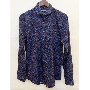 Express Men's Floral Slim Fit Button Down NWT